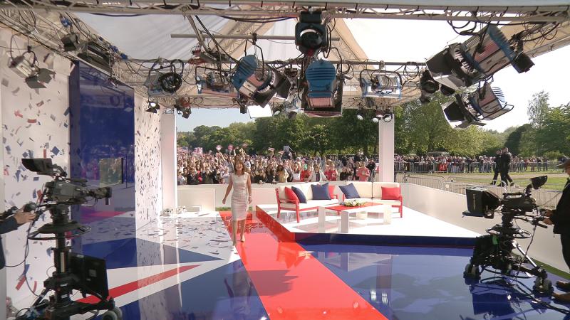 Royal Wedding sets for Sky News